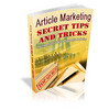 Article Marketing Secret Tips - SEO